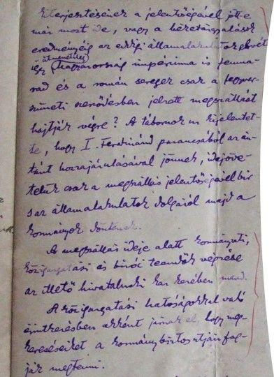 Részlet a Dumitru Nicolescu tábornokkal, a 2. Vadászdandár parancsnokával folytatott tárgyalásokból   Forrás: Paál Árpád Kézirathagyatéka