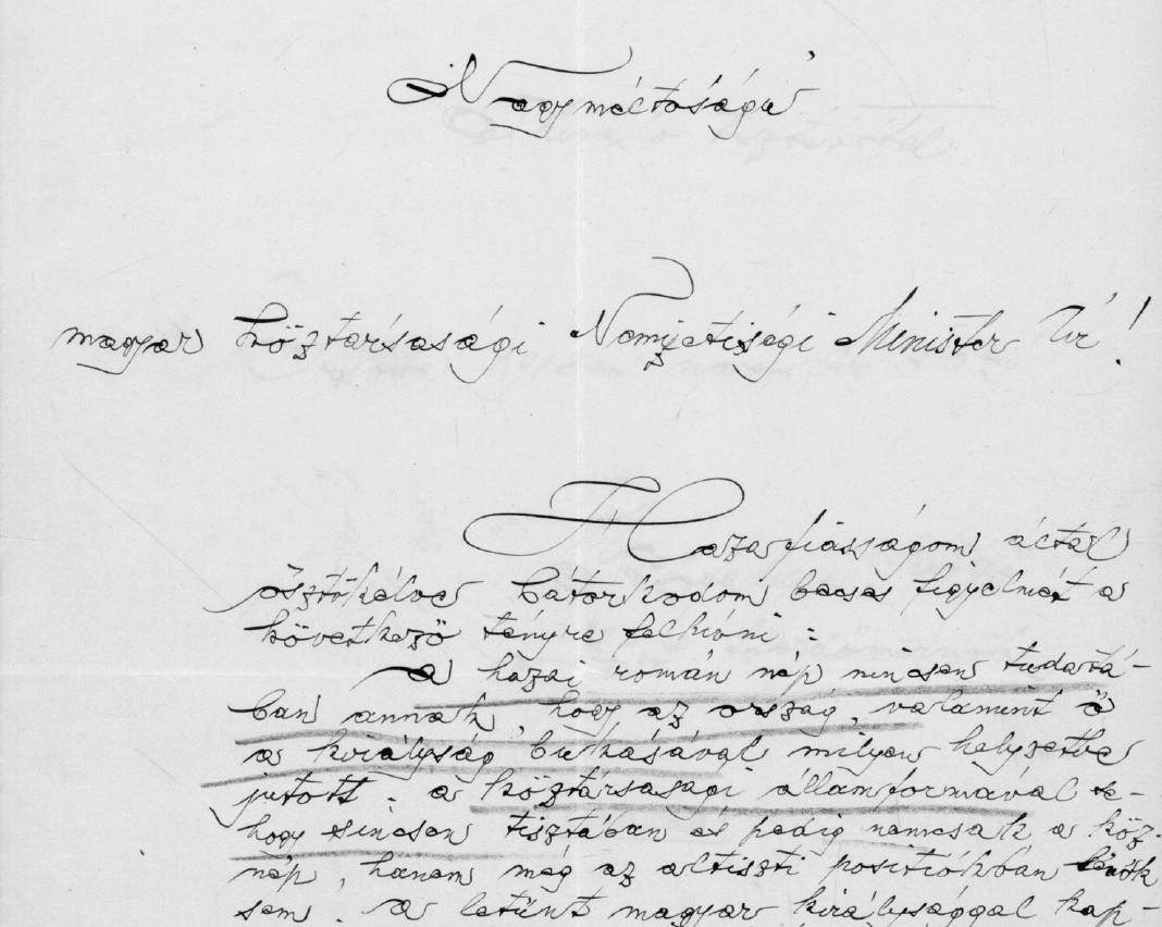 Az erdőmérnök kézzel írt levele | Forrás: MNL